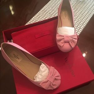 Valentino Pink Leather Flats